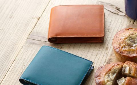二つ折り革財布レディース